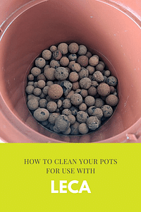 How to clean your pots for use with Leca
